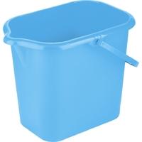 Ведро пластмассовое прямоугольное 16л, голубоеТМ Elfe light /Россия