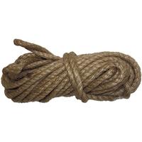 Веревка джутовая, L 10 м, крученая, D 8 мм СИБРТЕХРоссия