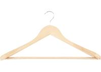Вешалка деревянная для верхней одежды с антискользящей перекладиной ТМ Elfe