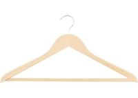 Вешалка деревянная для одежды с антискользящей рифленой перекладинойТМ Elfe