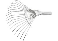 Грабли веерные 18 зубьев, без черенка, оцинкованные, круглый зуб СИБРТЕХ Россия