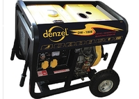 Дизельная сварочная генераторная установка DW180Е, 4.5 кВт, 220В/50Гц, 12.5 л, электростарт DENZEL