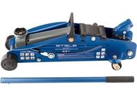 Домкрат гидравлический подкатной с фиксатором STELS, 2,5т SAFETY PIN, 140-385 мм, в кейсе