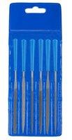 """Набор надфилей ЗУБР """"ЭКСПЕРТ"""", пластмассовая ручка, бархатная насечка, с чехлом, 100мм, 6шт"""