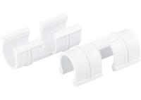 Зажим для крепления плёнки к каркасу парника, d-12 мм, 20 шт, белый PALISAD