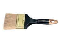 """Кисть плоская """"Профи"""", натуральная щетина, деревянная ручка MATRIX"""
