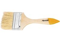 Кисть плоская Slimline, натуральная щетина, деревянная ручка SPARTA