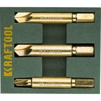 Набор экстракторов KRAFTOOL для выкручивания крепежа с износом граней шлица до 95%.PH1/PZ1,PH2/PZ2,