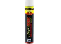 Пена STAYER BlackMAX 65 профессиональная монтажная, адаптерная, всесезонная, 800мл