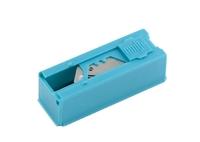Лезвия, 19 мм, трапециевидные крючкообразные, пластиковый пенал, 12 шт. GROSS