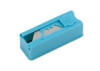 Лезвия, 19 мм, трапециевидные, пластиковый пенал, 12 шт. GROSS