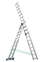 Лестница алюминиевая трехсекционная Алюмет Pоссия