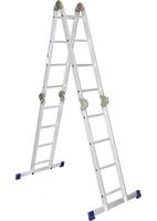 Лестница алюминиевая шарнирная Алюмет Pоссия