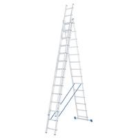 Лестница алюминиевая, трехсекционная СИБРТЕХ Pоссия