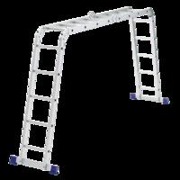 Лестница шарнирная алюминиевая Сибртех Россия