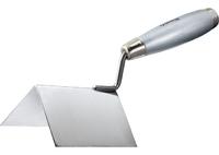 Мастерок из нержавеющей стали для внешних углов, деревянная ручка MATRIX