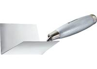 Мастерок из нержавеющей стали для внутренних углов, деревянная ручка MATRIX