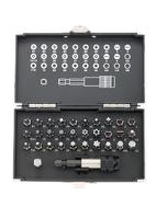 Набор бит GROSS, магнитный адаптер,сталь S2,пластиковый кейс,32 предм.