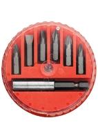 Набор бит MATRIX, магнитный адаптер для бит, сталь 45Х, 7 предм., в пласт. закрытом боксе