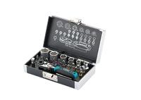 """Набор бит и головок торцевых GROSS ,1/4"""", магнитный адаптер, сталь S2 пластиковый кейс, 26 предм."""
