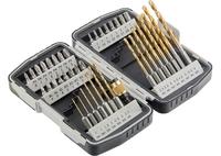 Набор бит и свёрл MATRIX, магнитный адаптер,CrV, в пласт. боксе, 40шт.