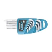 Набор ключей имбусовых Gross TORX-TT, 9 шт: T10-T50, удлиненные, S2, сатинированные