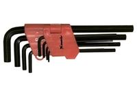 Набор ключей имбусовых MATRIX HEX, 1,5–10 мм, CrV, 9 шт., оксидированные, удлиненные