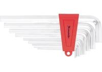 Набор ключей имбусовых MATRIX HEX, 1,5–10 мм, CrV, 9 шт., экстра-длин, сатин.