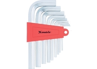 Набор ключей имбусовых MATRIX HEX, 2–12 мм, CrV, 9 шт., короткие, сатин.