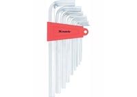 Набор ключей имбусовых MATRIX HEX, 2–12 мм, CrV, 9 шт., удлиненные , сатин.