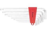 Набор ключей имбусовых MATRIX HEX, 2–12 мм, CrV, 9 шт., экстра-длин, c шаром, сатин.