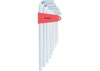 Набор ключей имбусовых MATRIX HEX, 2–12 мм, CrV, 9 шт., экстра-длин, сатин.