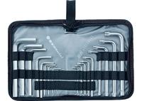 Набор ключей имбусовых MATRIX HEX-TORX, 18 шт: HEX 1,5–10 мм, T10-T50, CrV, короткие, сатин.