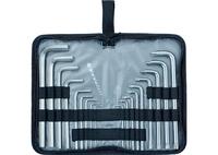 Набор ключей имбусовых MATRIX HEX-TORX, 18 шт: HEX 1,5–10 мм, T10-T50, CrV, удлиненные, сатин.