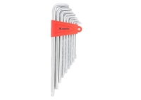 Набор ключей имбусовых MATRIX TORX, 9 шт: T10-T50, CrV, экстра-длин, сатин.