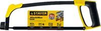 Ножовка по металлу STAYER MS350-BLACK-Max, металлическая обрезиненная рукоятка, натяжение 70 кг, 30