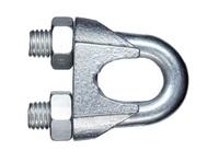 Зажим для стальных канатов, оцинкованный, DIN 741