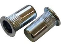 Заклепка гаечная стальная, стандартный бортик, с насечкой