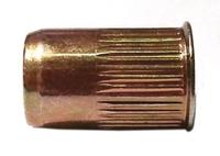Заклепка гаечная стальная, уменьшенный бортик, с насечкой
