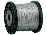 Трос ЗУБР стальной, DIN 3055, оцинкованная сталь, синтетическая сердцевина