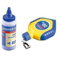 Набор STAYER Нить разметочная с синей краской в 2-хкомпонентном корпусе, 115гx30м