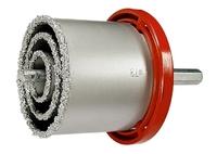 Набор коронок по керамической плитке, 33-53-67-73 мм, 6-гранный хвостовик MATRIX