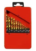 Набор нитридтитан. сверл по металлу, 1,5-6,5мм (через 0,5мм+3,2мм, 4,8мм), НSS,13 шт. MATRIX