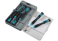 Набор отверток для точной механики GROSS, CrMo, двухкомпонентные рукоятки, 6шт., пласт. бокс GROSS