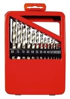 Набор сверл по металлу, 1-10 мм (через 0,5 мм), HSS, 19 шт., метал. коробка цил. хвостовик MATRIX
