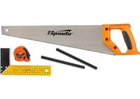 Набор столярный, 5 предм. (карандаш-2шт, ножовка 450 мм, рулетка , угольник строительный) SPARTA