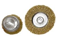 """Набор щеток для дрели, 2 шт., 1 плоская, 100 мм, + 1 """"чашка"""", 75 мм, со шпильками, мет. MATRIX"""