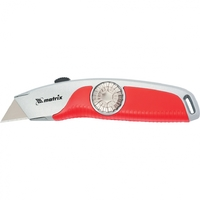 Нож, 18 мм выдвижное трапецивидное лезвие , эргономичная двухкомпонентная рукояткаMATRIX