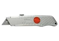 Нож, 18 мм, выдвижное трапециевидное лезвие, металлический корпус MATRIX