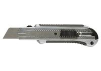 Нож, 25 мм, выдвижное лезвие, усиленная метал. направляющая, метал. обрезин. ручка MATRIX MASTER